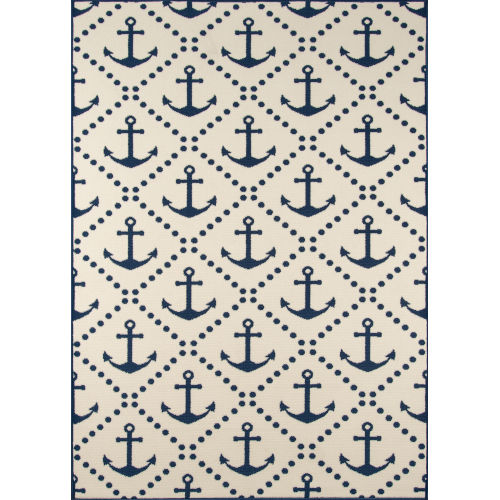 Baja Ivory Anchor Rectangular: 8 Ft. 6 In. x 13 Ft. Rug