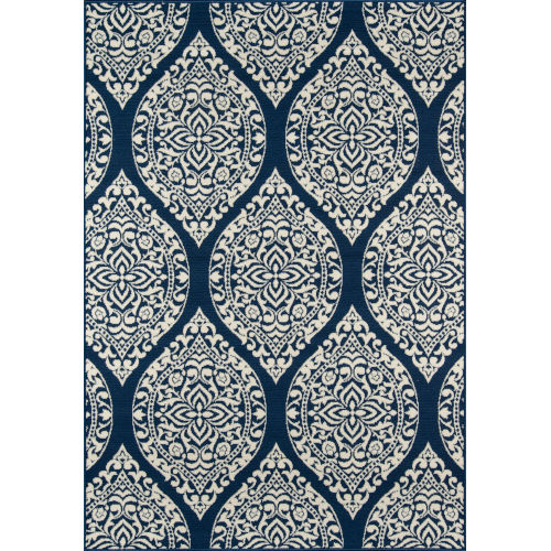 Baja Arabesque Navy Rectangular: 1 Ft. 8 In. x 3 Ft. 7 In. Rug