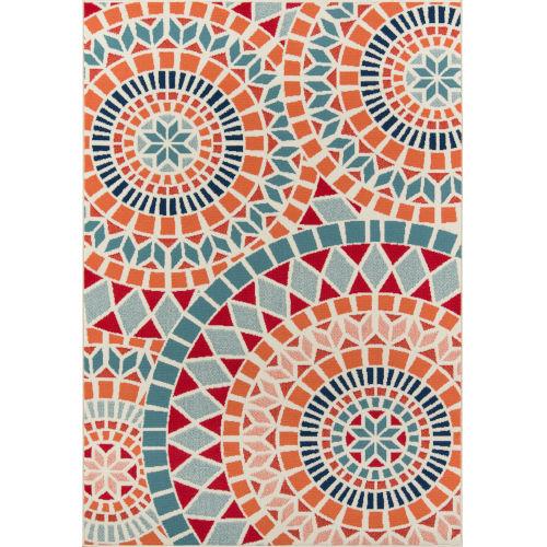 Baja Mosaic Multicolor Rectangular: 5 Ft. 3 In. x 7 Ft. 6 In. Rug