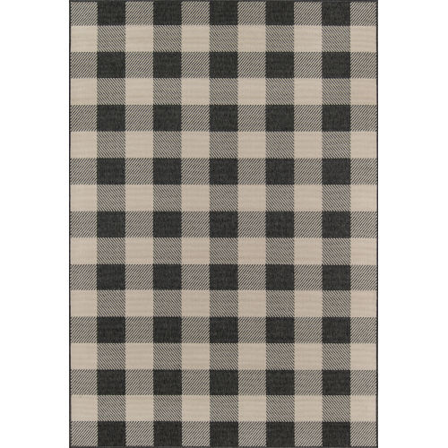 Baja Buffalo Check Charcoal Rug