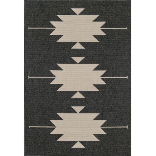 Baja Aztec Charcoal Indoor/Outdoor Rug