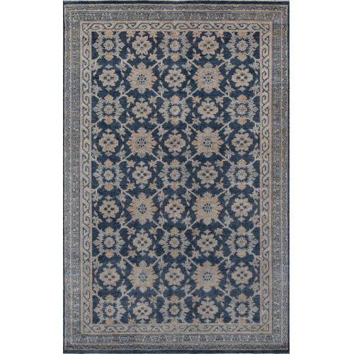 Banaras Blue Rectangular: 2 Ft. x 3 Ft. Rug