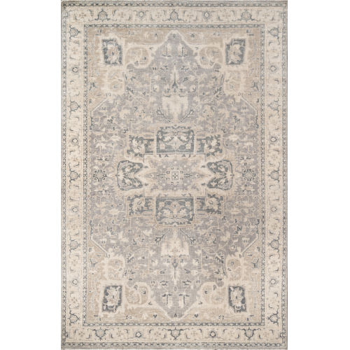 Banaras Gray Rectangular: 3 Ft. 9 In. x 5 Ft. 9 In. Rug