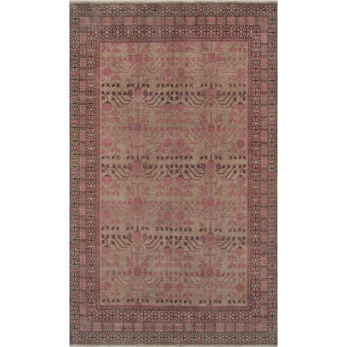 Banaras Pink Rectangular: 3 Ft. 9 In. x 5 Ft. 9 In. Rug