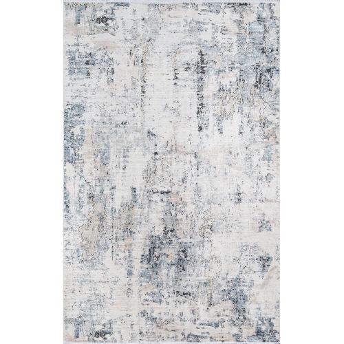 Bergen Blue Abstract Rectangular: 2 Ft. x 3 Ft. Rug