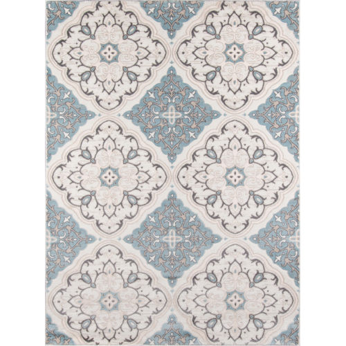 Brooklyn Heights Damask Ivory Rectangular: 3 Ft. 11 In. x 5 Ft. 7 In. Rug