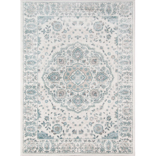 Brooklyn Heights Medallion Ivory Rectangular: 9 Ft. 3 In. x 12 Ft. 6 In. Rug