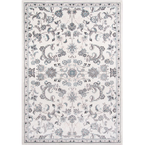 Brooklyn Heights Floral Ivory Rectangular: 9 Ft. 3 In. x 12 Ft. 6 In. Rug