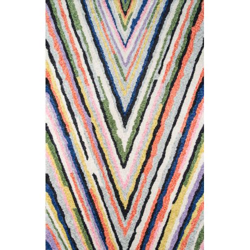 Bungalow Notch Multicolor Rectangular: 9 Ft. x 12 Ft. Rug
