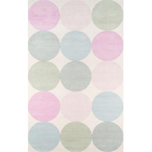 Delmar Agatha Dots Multicolor Rectangular: 8 Ft. x 10 Ft. Rug