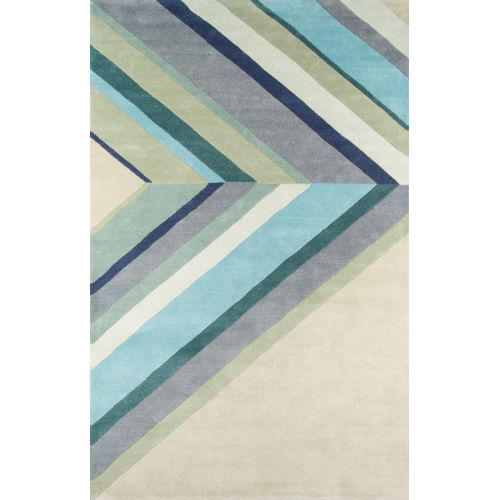 Delmar Ultralight Blue Rectangular: 3 Ft. 6 In. x 5 Ft. 6 In. Rug