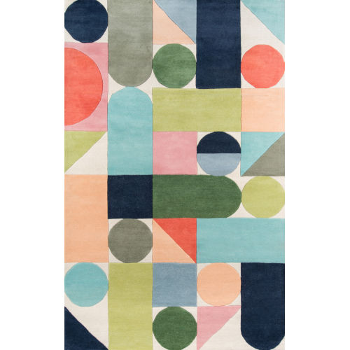Delmar Wright Multicolor Rectangular: 9 Ft. x 12 Ft. Rug