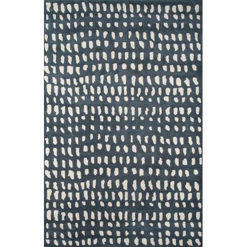 Delmar Boho Dots Blue Runner: 2 Ft. 3 In. x 8 Ft.