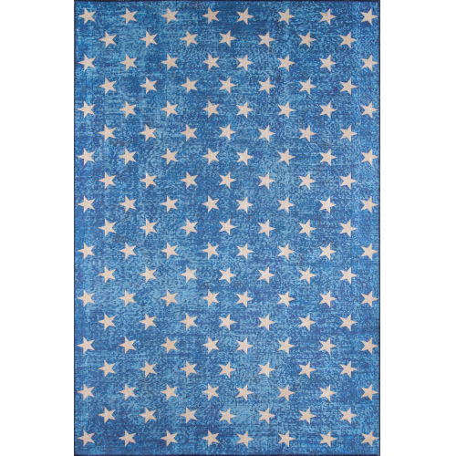 District Blue Rectangular: 5 Ft. x 7 Ft. 6 In. Rug
