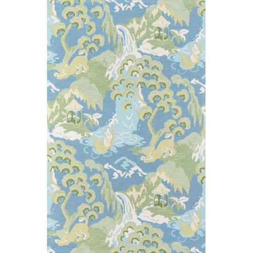 Embrace Adventure Blue Rectangular: 5 Ft. x 8 Ft. Rug