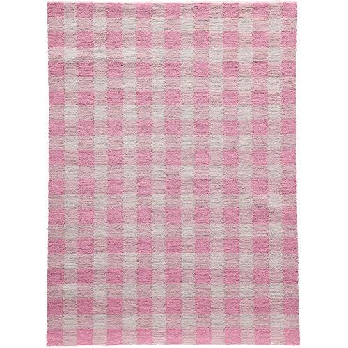 Geo Pink Runner: 2 Ft. 3 In. x 7 Ft. 6 In.