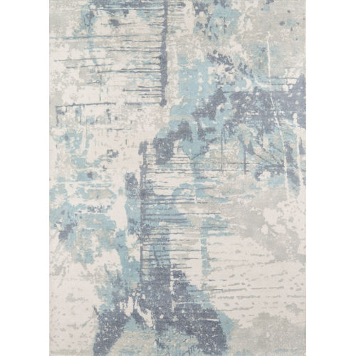 Illusions Abstract Blue Rectangular: 8 Ft. x 11 Ft. Rug