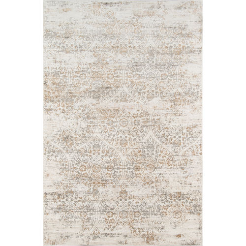 Juliet Ivory Distressed Rectangular: 7 Ft. 6 In. x 9 Ft. 6 In. Rug
