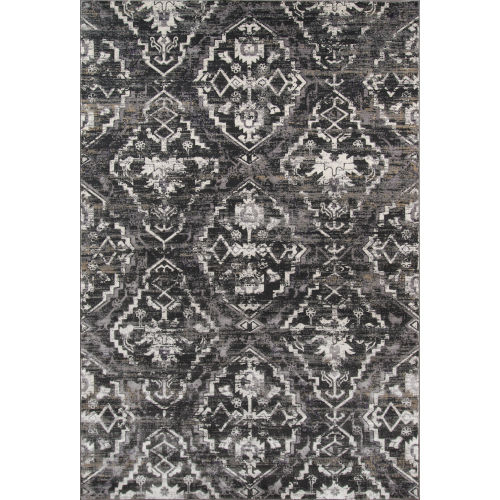 Juliet Damask Charcoal Rectangular: 3 Ft. 3 In. x 5 Ft. Rug