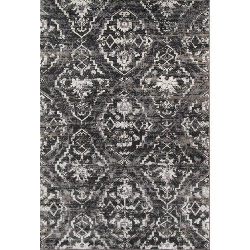 Juliet Damask Charcoal Rectangular: 5 Ft. x 7 Ft. 6 In. Rug