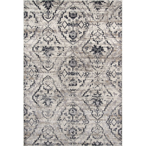 Juliet Damask Ivory Rectangular: 7 Ft. 6 In. x 9 Ft. 6 In. Rug