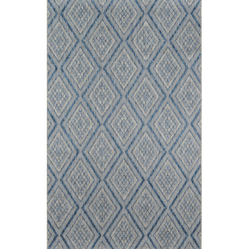 Lake Palace Blue Rectangular: 3 Ft. 3 In. x 5 Ft. Rug