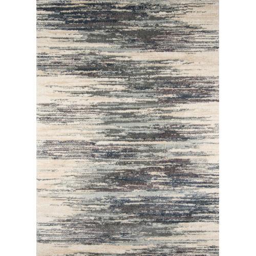Lima Abstract Shag Gray Rectangular: 2 Ft. x 3 Ft. Rug