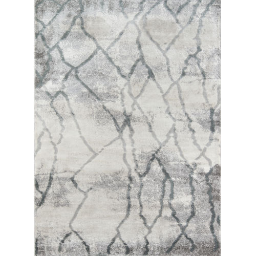 Matrix Gray Abstract Rectangular: 9 Ft. 10 In. x 12 Ft. 10 In. Rug
