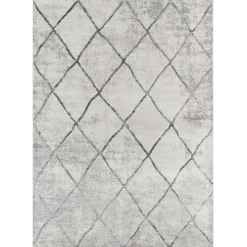 Matrix Geometric Gray Rectangular: 3 Ft. 3 In. x 5 Ft. Rug
