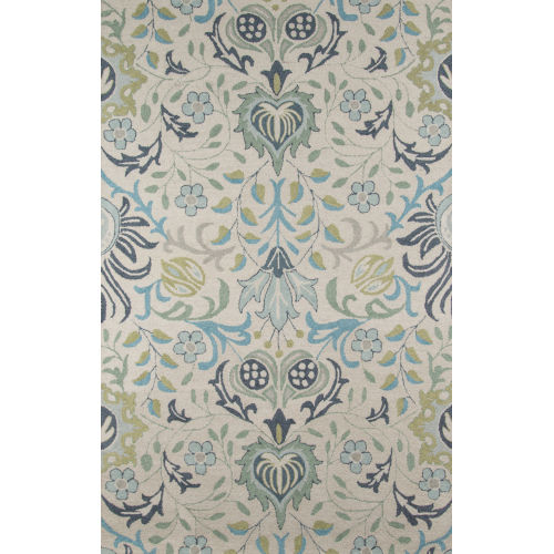 Newport Floral Blue Rectangular: 8 Ft. x 10 Ft. Rug