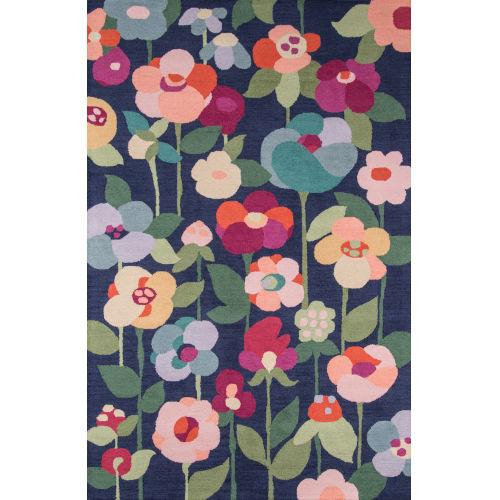 Newport Floral Navy  Rug
