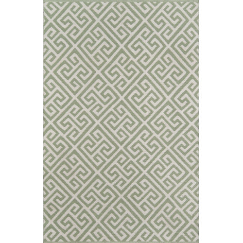 Palm Beach Brazilian Avenue Green Rectangular: 7 Ft. 6 In. x 9 Ft. 6 In. Rug