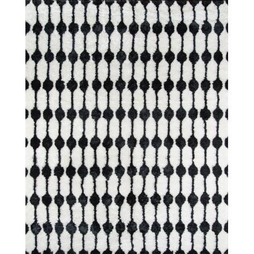 Retro Black Rectangular: 5 Ft. x 7 Ft. 6 In. Rug