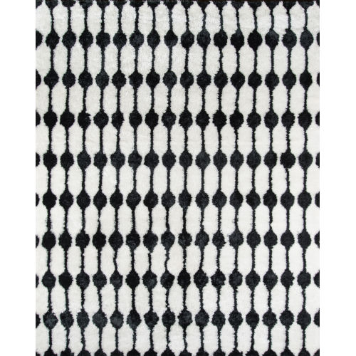 Retro Black Rectangular: 7 Ft. 6 In. x 9 Ft. 6 In. Rug