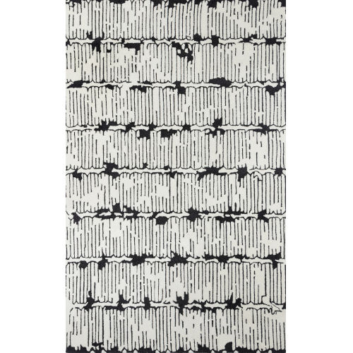 Smith Abstract Black Rectangular: 2 Ft. x 3 Ft. Rug