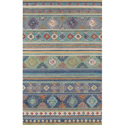 Tangier Oriental Blue Rectangular: 9 Ft. 6 In. x 13 Ft. 6 In. Rug