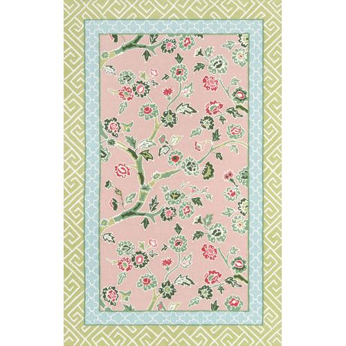 Pink Blossoms Indoor/Outdoor Rug