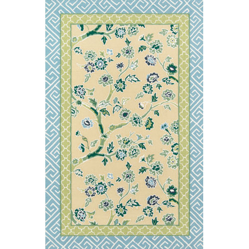 Blossom Dearie Yellow Indoor/Outdoor Rug
