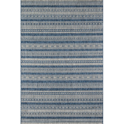 Villa Tuscany Blue Runner: 2 Ft. 7 In. x 7 Ft. 6 In.