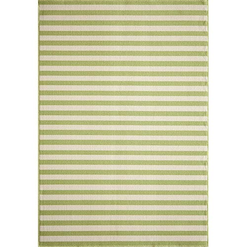 Momeni Baja Green Rectangular: 5 Ft. 3 In.  X 7 Ft. 6 In. Rug