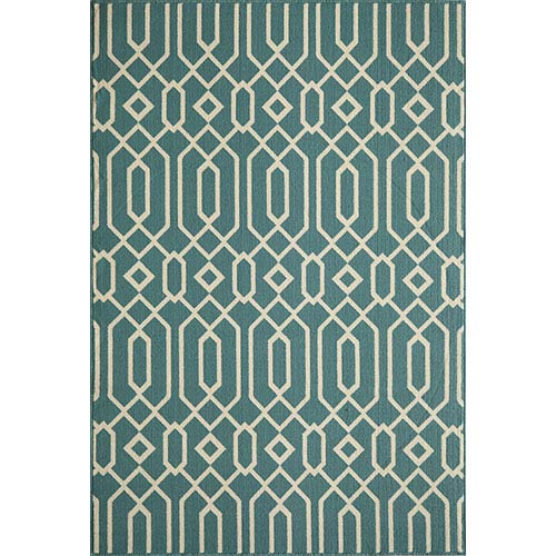 Momeni Baja Blue Rectangular: 5 Ft. 3 In.  X 7 Ft. 6 In. Rug