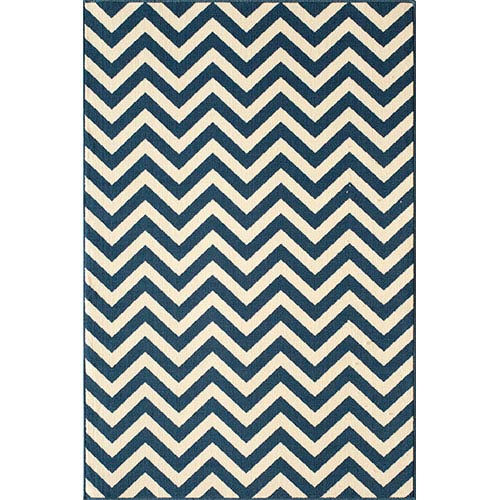 Momeni Baja Navy Rectangular: 5 Ft. 3 In.  X 7 Ft. 6 In. Rug