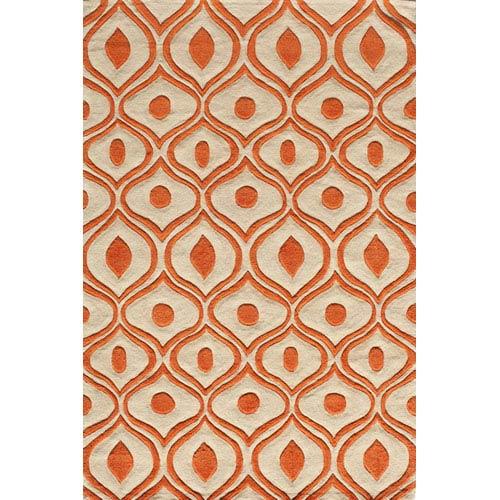 Momeni Bliss 09 Orange Rectangular: 5 ft. x 7 ft. 6 in. Rug