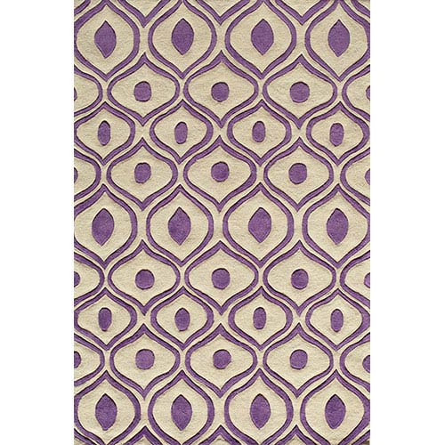 Momeni Bliss Purple Rectangular: 5 Ft. x 7 Ft. 6 In. Rug Rug