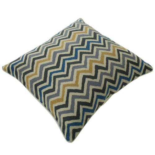 Chainstitch Multicolor 20-Inch Pillow