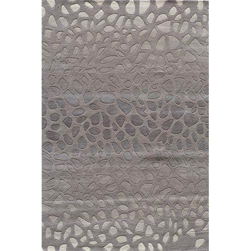 Momeni Delhi Silver Rectangular: 5 ft. x 8 ft. Rug