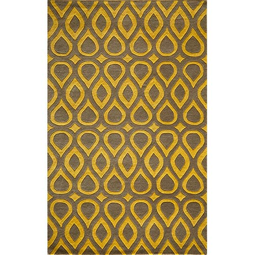 Momeni Delhi Grey Rectangular: 5 Ft. x 8 Ft. Rug Rug