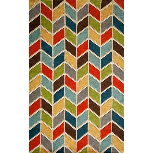Momeni Delhi Multi-Colored Rectangular: 5 Ft. x 8 Ft. Rug Rug