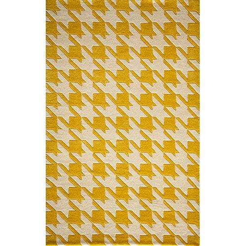 Momeni Delhi Yellow Rectangular: 5 Ft. x 8 Ft. Rug Rug