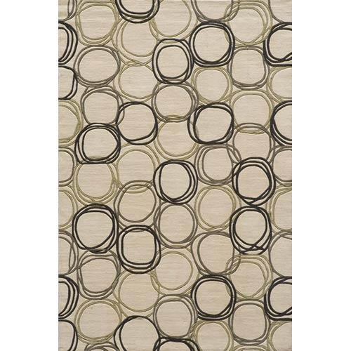 Momeni Elements Ivory Rectangular: 5 ft. x 8 ft. Rug